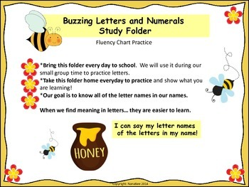 Busy Bee Letters in My Name Fluency Practice