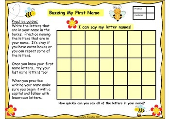 Busy Bee Letters and Numerals Fluency Practice