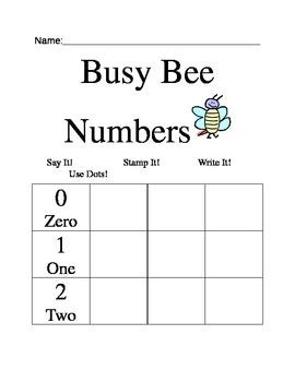 Busy Bee Math 0-10