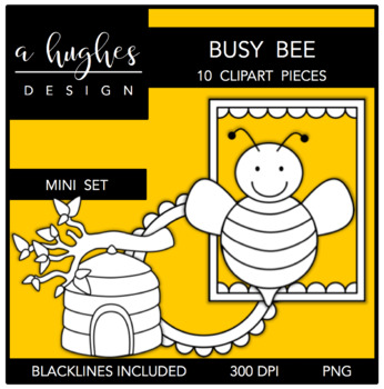Busy Bee Mini Clipart Set {A Hughes Design}