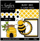 Busy Bee Mini Clipart Set [Ashley Hughes Design]