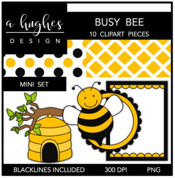 Busy Bee Mini Set {Graphics for Commercial Use}