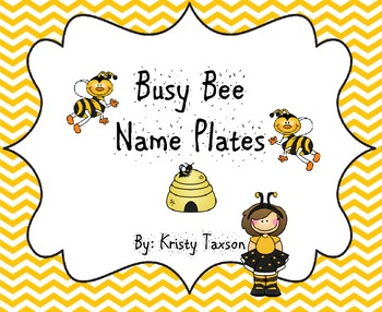 Busy Bee Name Plates