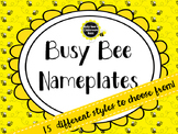 Busy Bee Nameplates