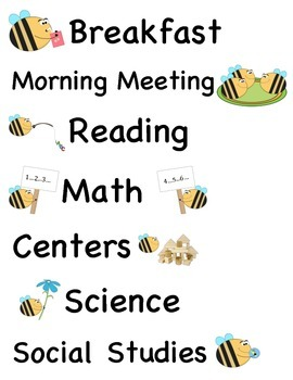 Busy Bee Schedule
