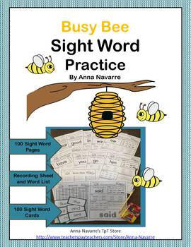 Busy Bee Sight Word Practice