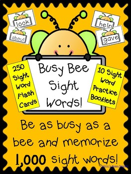 Sight Words 1-1,000 Busy Bee Sight Word Booklets