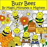 Busy Bee Spring Clip Art