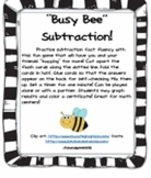 Busy Bee Subtraction