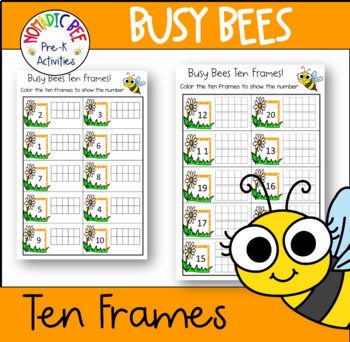 Busy Bee Ten Frames