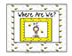 "Class Location Cards ""Where Are We?"" Busy Bee Theme"