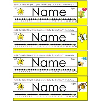 Busy Bee Themed Name Plate (editable)
