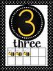 Busy Bee Themed Number Posters 1-20 with Ten Frames