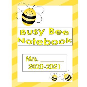 Busy Bee Themed Teacher Binder (EDITABLE)