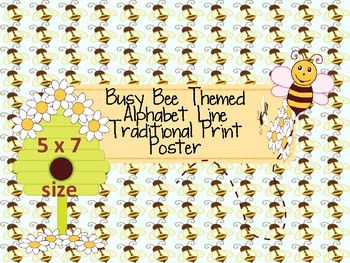 Busy Bee Themed Traditional Print ABC Line