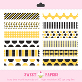 Busy Bee Washi Tape Digital Clip Art Set - by Sweet Papers