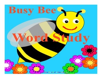 Busy Bee Word Study Smartboard Lesson and Activity