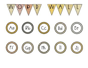 Busy Bee Editable Word Wall