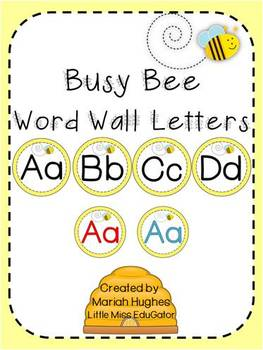 Busy Bee Word Wall Letters