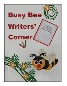 Busy Bee Writers' Corner – bright and colourful poster