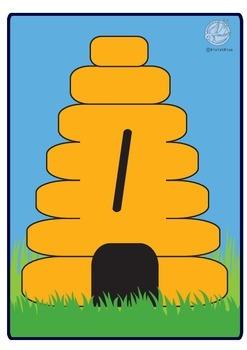 Maths Centre Game: Busy Bee- numeral identification 1-10  (Kindergarten)