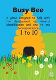 Maths Centre Game: Busy Bee- numeral identification 1-10