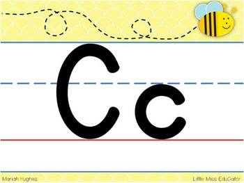 Busy Bee themed Alphabet Line