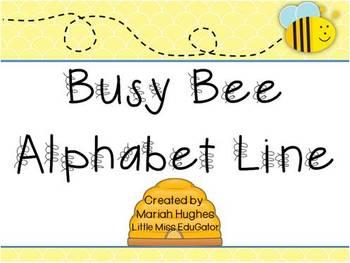 Busy Bee themed Alphabet Line