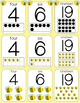 Busy Bee themed Number Posters 0-20