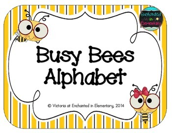 Busy Bees Alphabet Cards
