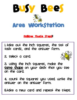Busy Bees Area Center or Workstation