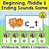 CVC Words Beginning Sounds, Middle & Ending Sounds Game - Smartboards & Tablets