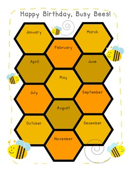 Busy Bees Birthday Chart