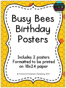 Busy Bees Birthday Posters