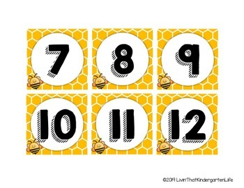 Busy Bees Calendar Header and Pieces
