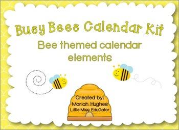 Busy Bees Calendar Kit