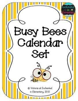 Busy Bees Calendar Numbers, Months and Days