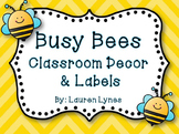 Busy Bees Classroom Decor & Labels