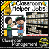 Classroom Helper Jobs (EDITABLE) ~ Busy Bees Theme