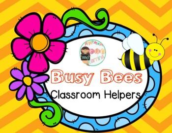 Busy Bees Classroom Helpers mini bulletin board set