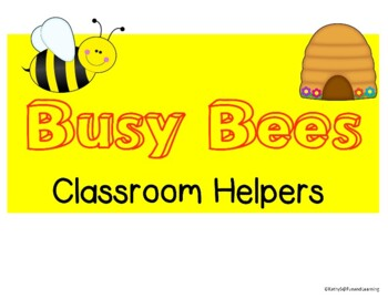 Busy Bees Classroom Helpers mini bulletin board set