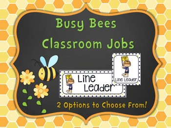 Busy Bees Classroom Jobs