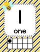#roomdecor Busy Bees Classroom Number Posters with Number Words & Ten Frames