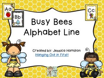 Busy Bees Classroom Theme - Alphabet Line