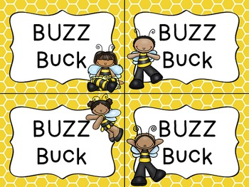 Busy Bees Classroom Theme - Buzz Bucks and Rewards