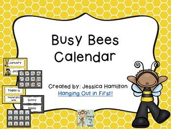 Busy Bees Classroom Theme - Calendar Set