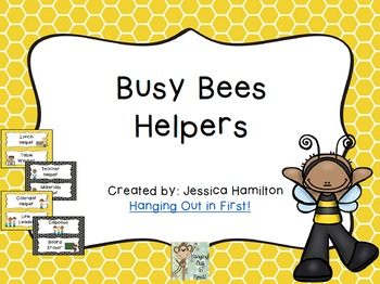 Busy Bees Classroom Theme - Class Helpers Editable