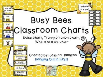 Busy Bees Classroom Theme - Classroom Charts