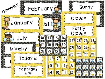 Busy Bees Classroom Theme Decor - EDITABLE!