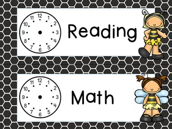 Busy Bees Classroom Theme - EDITABLE schedule